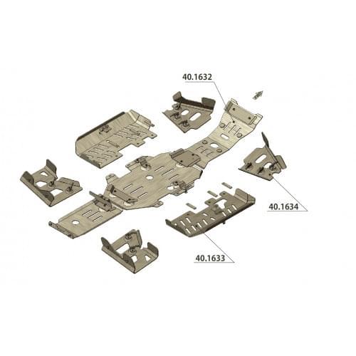 Комплект защиты для Suzuki King Quad 700/750